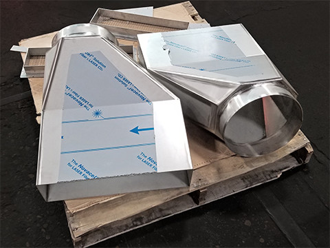 Stainless Duct 2B Finish– Laser cut, formed, rolled, welded, ground and polished